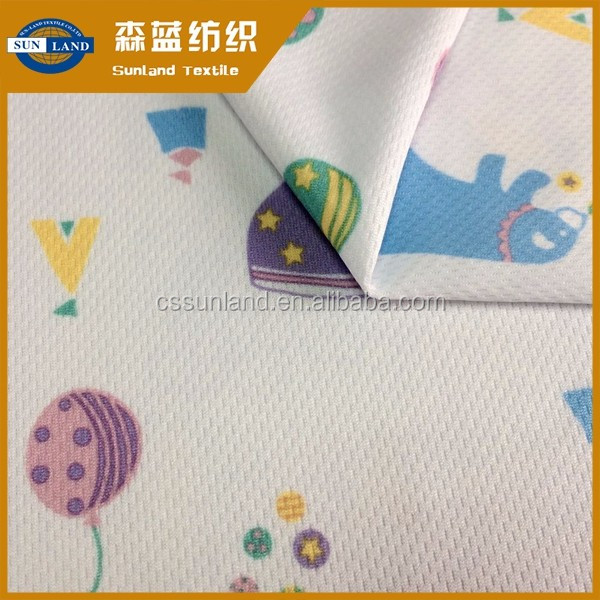 100 polyester weft knit dri fit soft printed birdeye mesh fabric