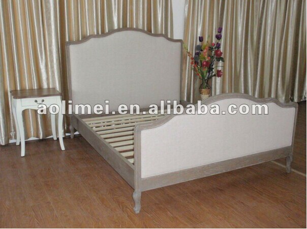 Oak french provincial furniture french upholstered curve bed