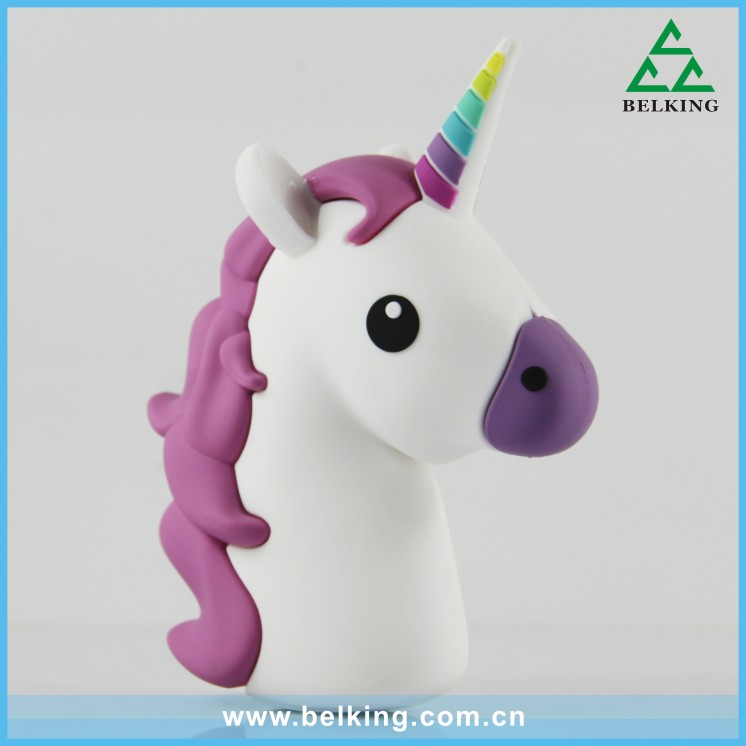 2000mAn Unicorn Power Bank, Cartoon Animal Mini Portable Powerbank, Universal Mobile Phone Battery Charger