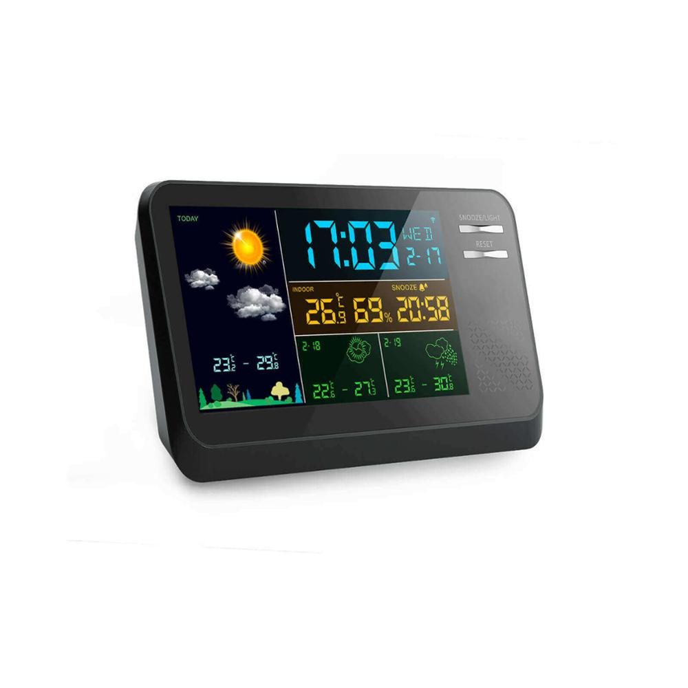 Multifunction color display wireless wifi weather station with APP