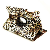 2015 Leopard pattern leather tablet case for ipad air 2