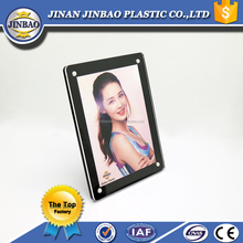 JINBAO Magnetic fridge acrylic plastic magnet photo frame custom magnetic picture frame from chinese factory