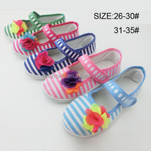 Beautiful fashion princess girls belly canvas shoes in china