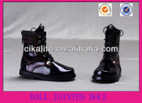 ECO-Friendly patent Leather Ball Jointed Doll boots