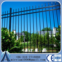 Powder Coated Ornamental Spear Top Security Steel Tubular Fence in Garden,Home,Factory, School ,Villa