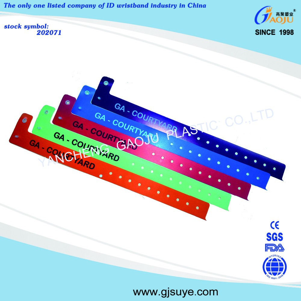 Hot selling plastic promotion id bands