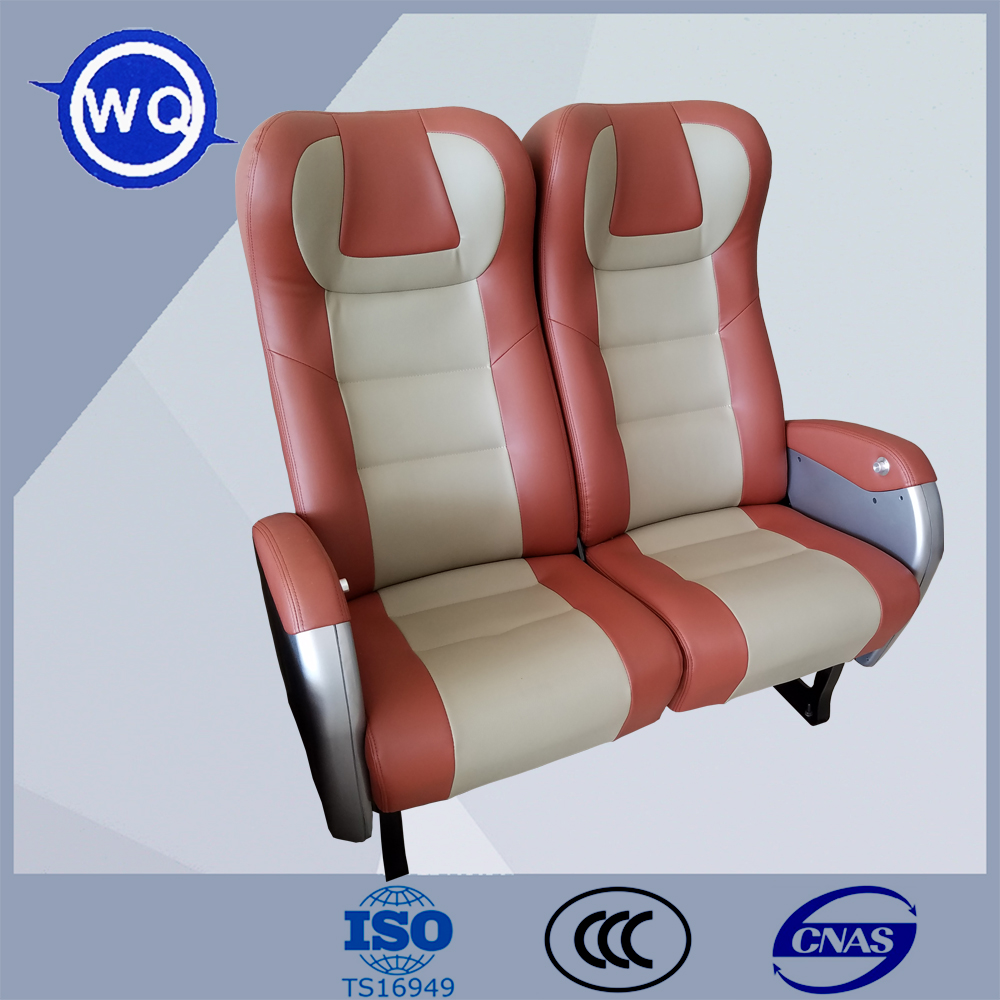 Luxury railway seat train seat with leather covering for sale