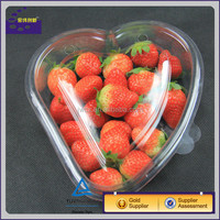 Transparent Heart Shape Fruit Blister Packaging Box ,Plastic Container with Lid