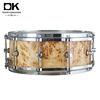 poplar burl and 6 ply maple die-cast hoops professional snare drum