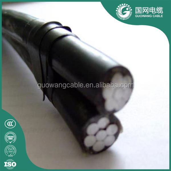 Low Voltage 2 M3 4 5 Cores Overhead Power Transmission Used Xlpe Twisted Aluminum Abc Cable