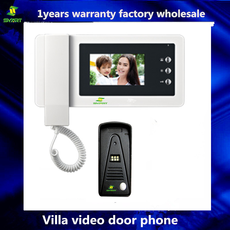 LCD Wired Video Door Phone RFID Electronic Door Lock Camera Intercom System