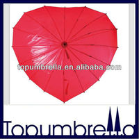 28 inches 16 ribs unique love heart shape umbrella