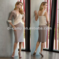 ME-199 Popular design tea length mother of the bride jacket dress