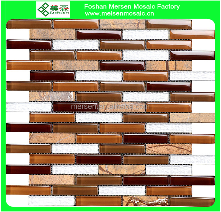 Bathroom tiles Strip Glass Mosaic SJ8202
