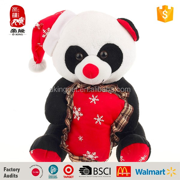 China Import Toys cheap Plush Panda Christmas gift