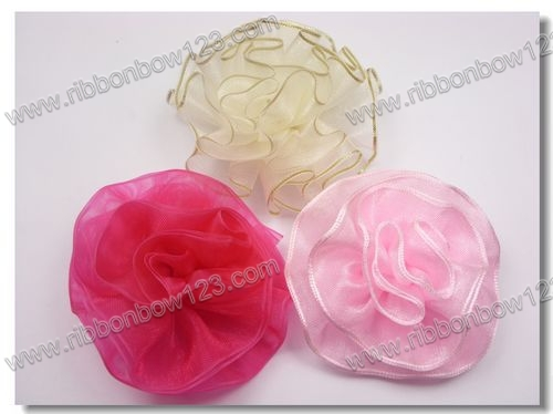 pure handmade ribbon flowers for shoes