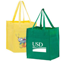 eco friendly folding clear non woven tote shopping bag with logo design