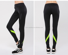 OEM factory panther clothing Hot Woman gym tights yoga pants with designed waist, custom brands sportswear