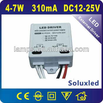 4-7w power supply constant current 600mA led driver