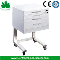 Luxury Fashion Design Stainless Steel Hospital Clinic Mobile Dental Cabinet SSU-02