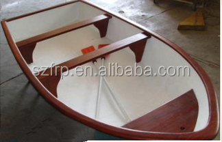 Double hull Fiberglass fishing boat for sale GRP boat frp boat with outboard motor