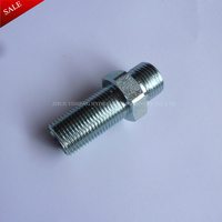 BSPP male 60 Degree cone seat long bulkhead fitting Steel
