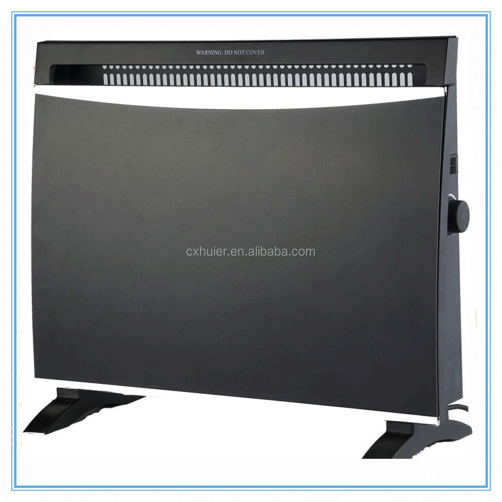 Black Tempered Glass Panel Convector Heater 1500W Max.