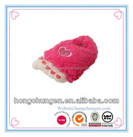 Plush indoor Toe Big Feet warm soft slippers