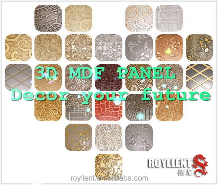 Home Decor embossed mdf panels China wholesales white embossed ceramic tile