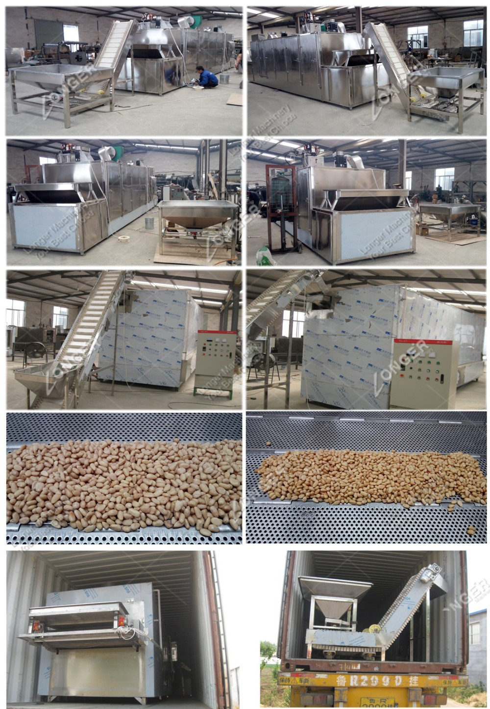 Industrial Almond Roasting Machine Cocoa Bean Sunflower Seed Grain Peanuts Roaster