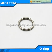 polished nickel color handbag o ring round shape bag accessory ring wholesale rings