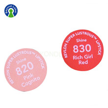 Custom Matt Printing Lipstick Bottom Roll Adhesive Packing Labels
