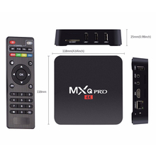 Andriod 6.0 quad core tv box mxq pro amlogic s905 4k android tv box