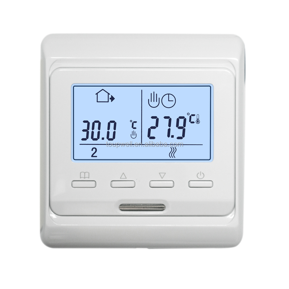 Eu box suitable digital programmable <strong>heating</strong> up room thermostat