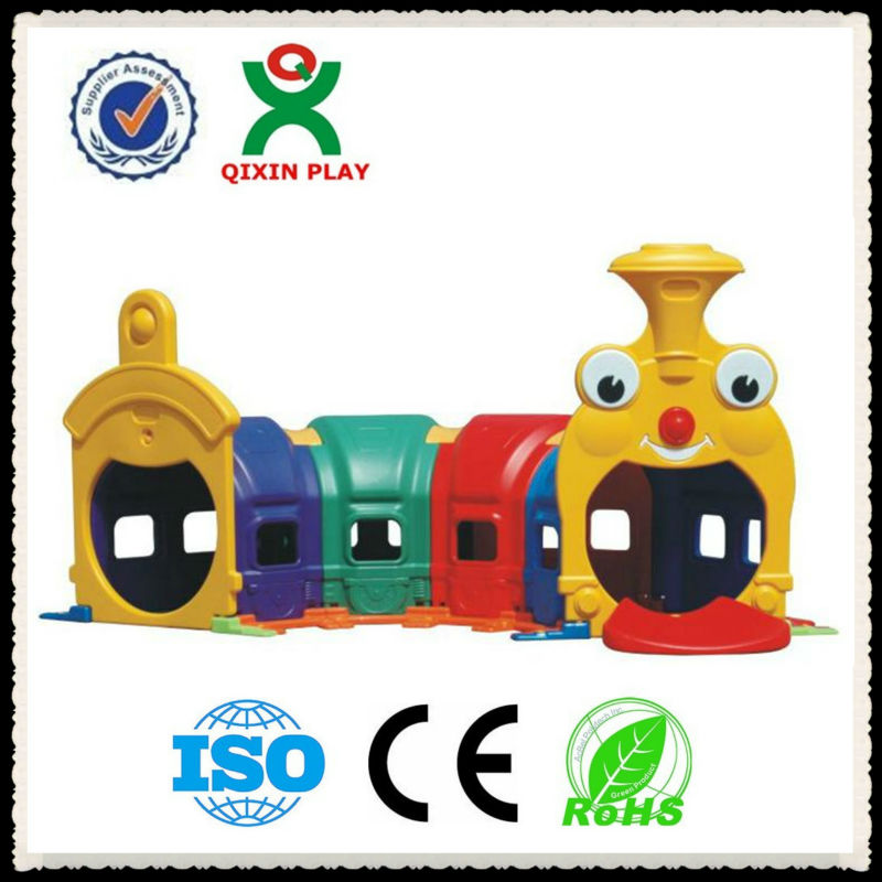 2013 High quality plastic train tunnel for kids/kids climbing tunnel for kindergarten/plastic tunnel QX-B3906