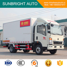 13.9 CBM SINOTRUK HOWO 4x2 Small Refrigerator Cold Room Van Truck With 115HP EUROIV
