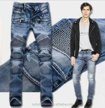 High Quality Skinny Fit Washed Trousers Custom Denim Jeans New Style Jeans Pent Men