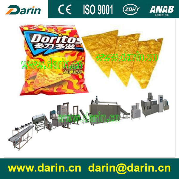 Puffed Corn Chips Making Machine, Corn Snack Extruder Machine