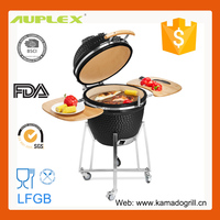 Outdoor Backyard Smoke Free Ceramic Charcoal BBQ Oven Grill