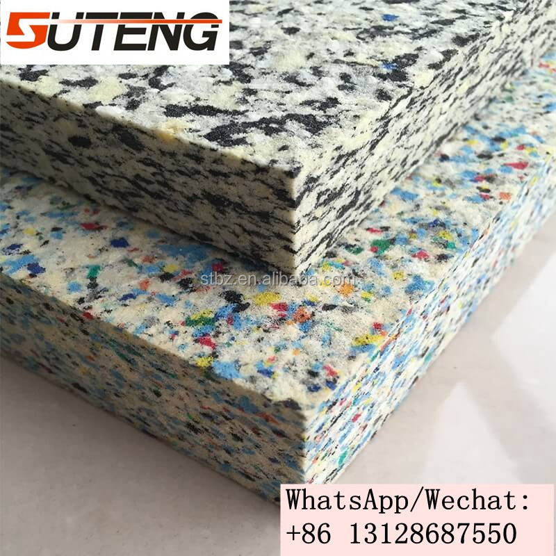 Environmentally clean pu foam block rebond foam from dry scraps for mattress