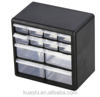 clear plastic compartment storage box with dividers for building blocks