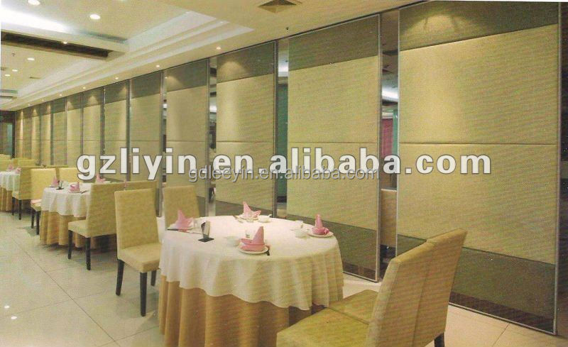 restaurant wall divider movable partition for banquet hall/ hotel
