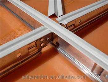 Decorative T Bar Aluminum Suspended Ceiling Grid Types