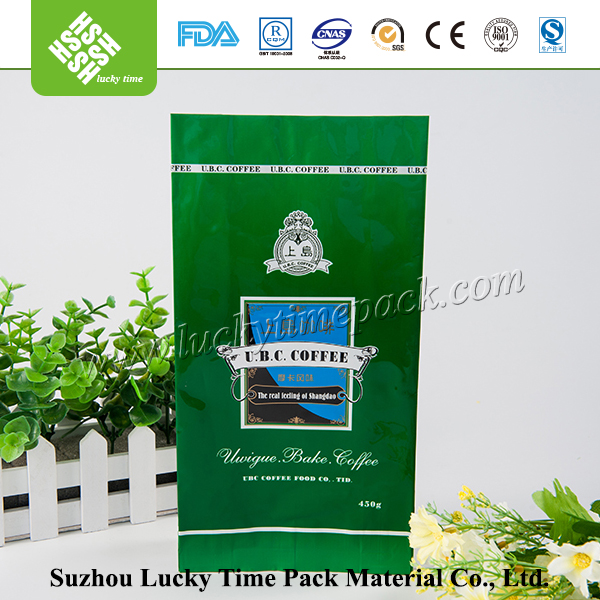 Printed Aluminum Foil Instant Coffee Bag with Side Gusset