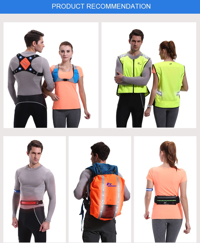 Hi vis LED Reflective safety running fishing reflecting cooling vest