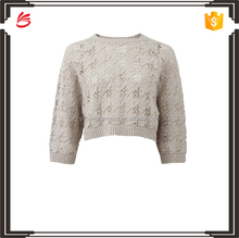 2017 Fall New Design Custom Knitwear Women Knit Cropped Top