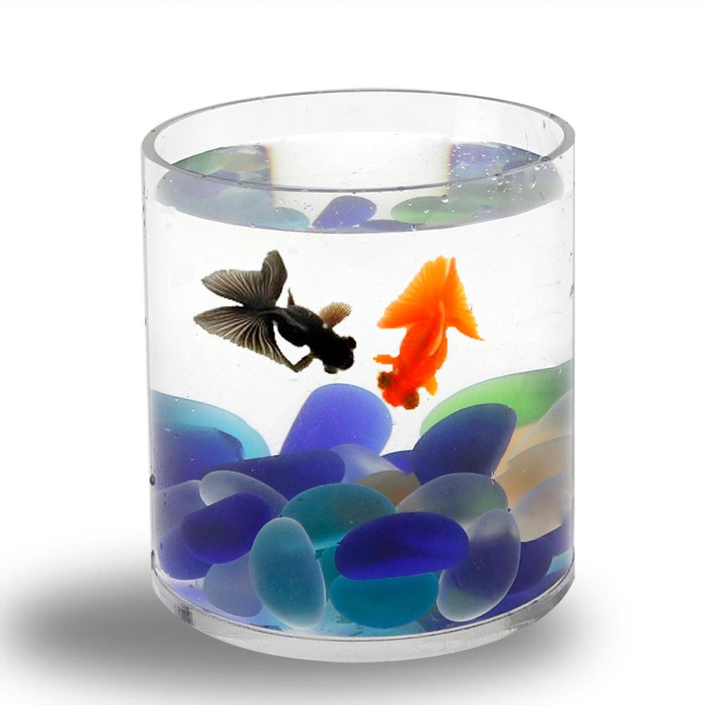 Desktop acrylic pet fish tank acrylic cylinder tank view for How to build an acrylic fish tank