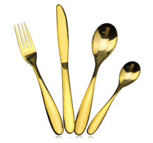 Wedding decoration copper flatware gold wedding set