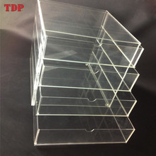 Manufacturer Customize 3 4 5 6 Drawer Countertop Clear Acrylic Cosmetic Large Makeup Organizer with Handle