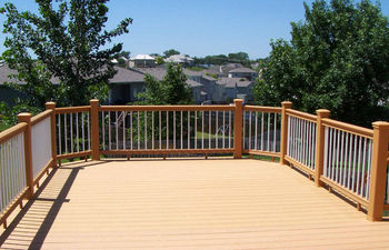 wpc outdoor waterproof laminate decking floor